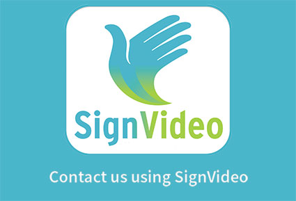 Contact us with SignVideo